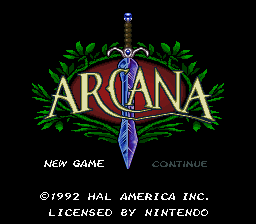 Game profile: Arcana ~ SNESmusic org