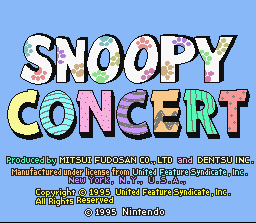 8a500a8fd5 Game profile  Snoopy Concert ~ SNESmusic.org