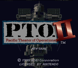 Game profile: Pacific Theater of Operations II ~ SNESmusic org